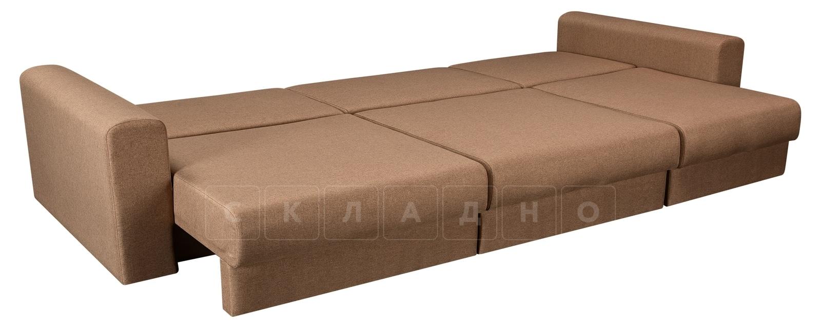 Диван Медисон коричневый 325 см фото 4 | интернет-магазин Складно