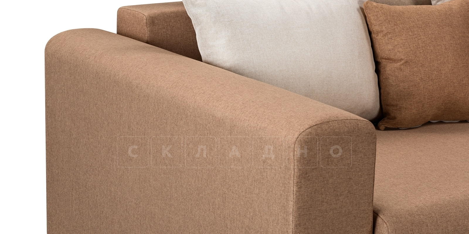 Диван Медисон коричневый 325 см фото 5 | интернет-магазин Складно