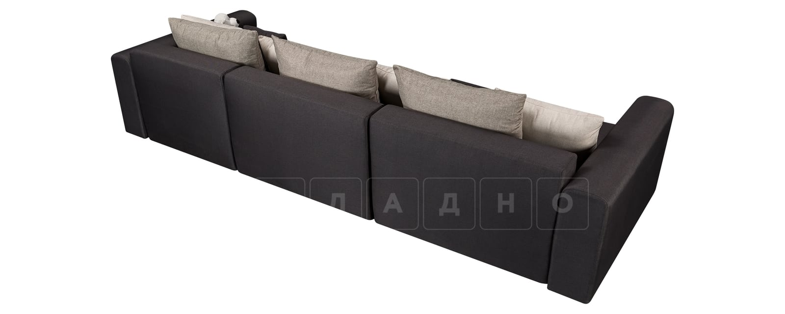 Диван Медисон темно-серый 325 см фото 3 | интернет-магазин Складно