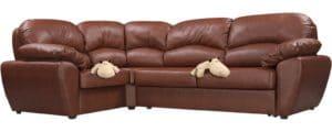 Угловой диван Эвита кожаный коричневый левый угол 75300 рублей, фото 4   интернет-магазин Складно