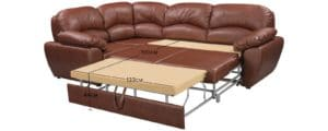 Угловой диван Эвита кожаный коричневый левый угол 75300 рублей, фото 12   интернет-магазин Складно