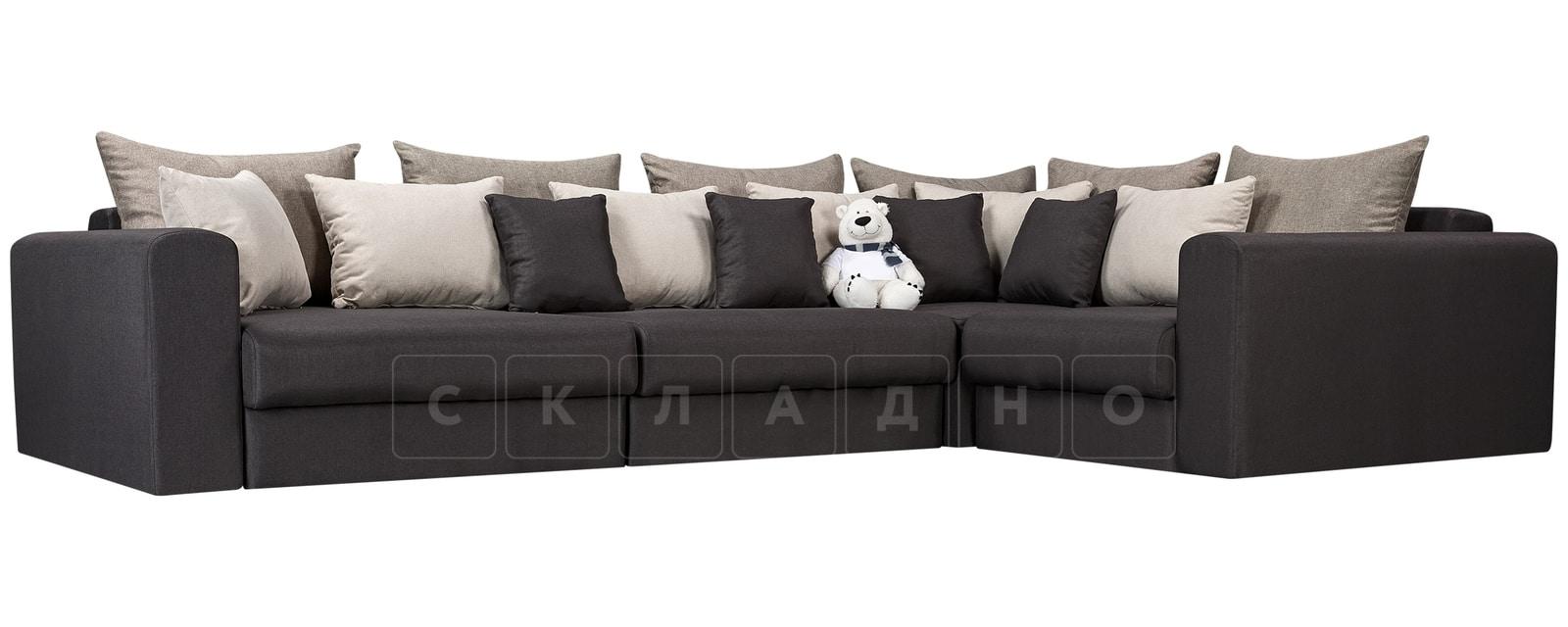 Угловой диван Медисон темно-серый 345х224см фото 1 | интернет-магазин Складно