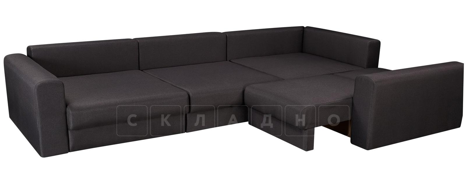 Угловой диван Медисон темно-серый 345х224см фото 4 | интернет-магазин Складно