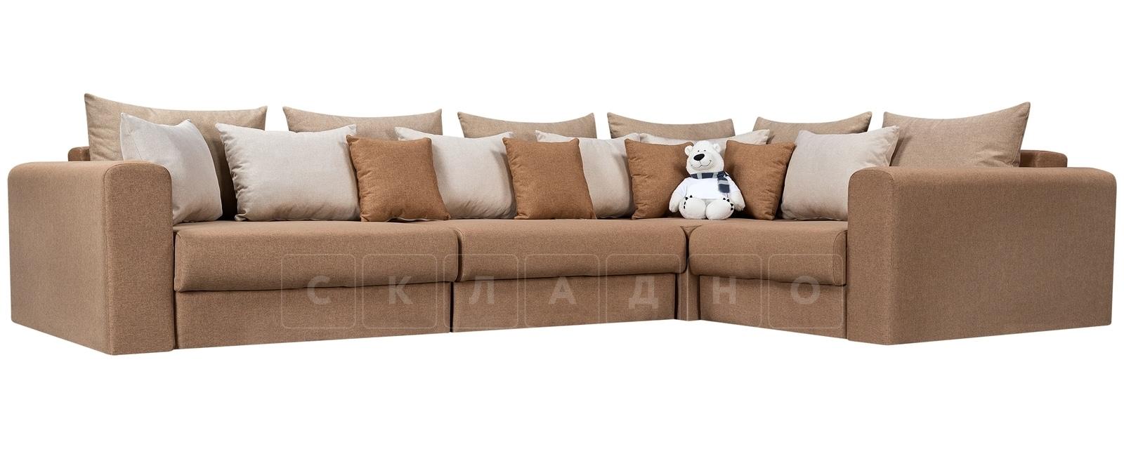 Угловой диван Медисон коричневый 345х224 см фото 1 | интернет-магазин Складно