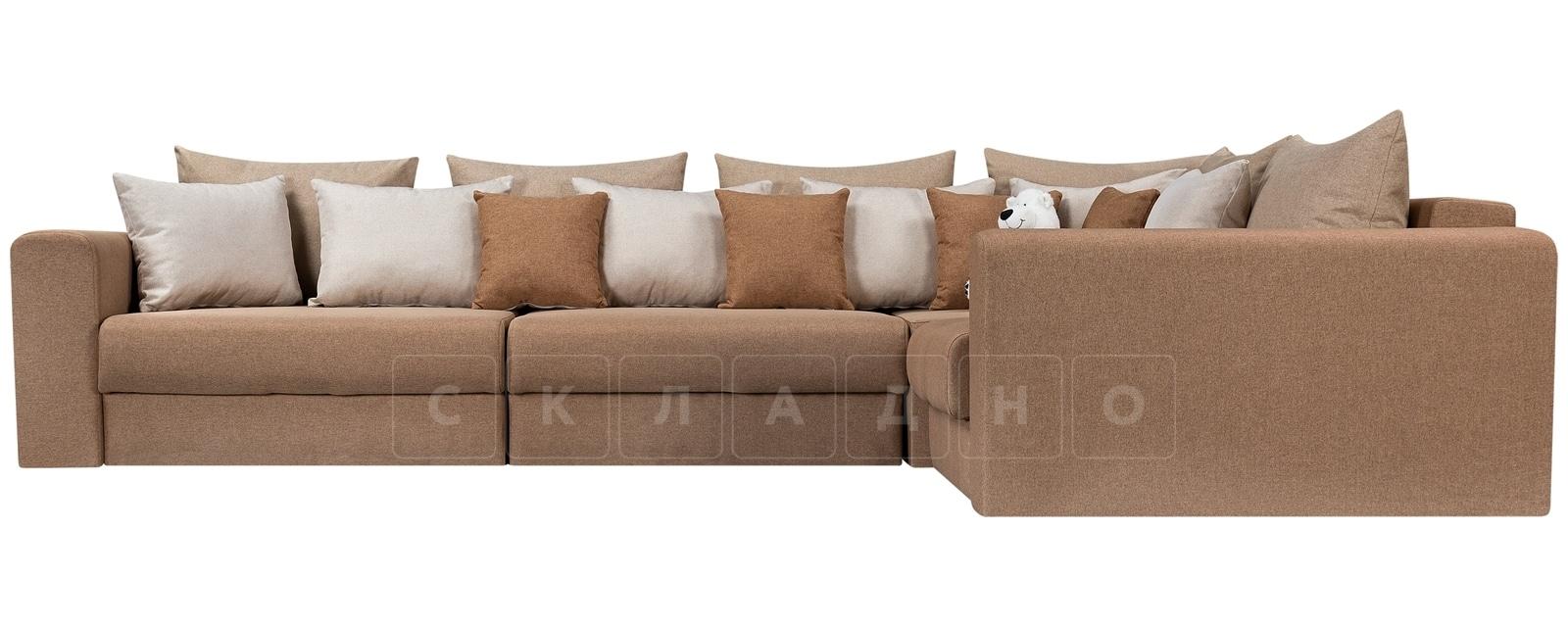 Угловой диван Медисон коричневый 345х224 см фото 2 | интернет-магазин Складно