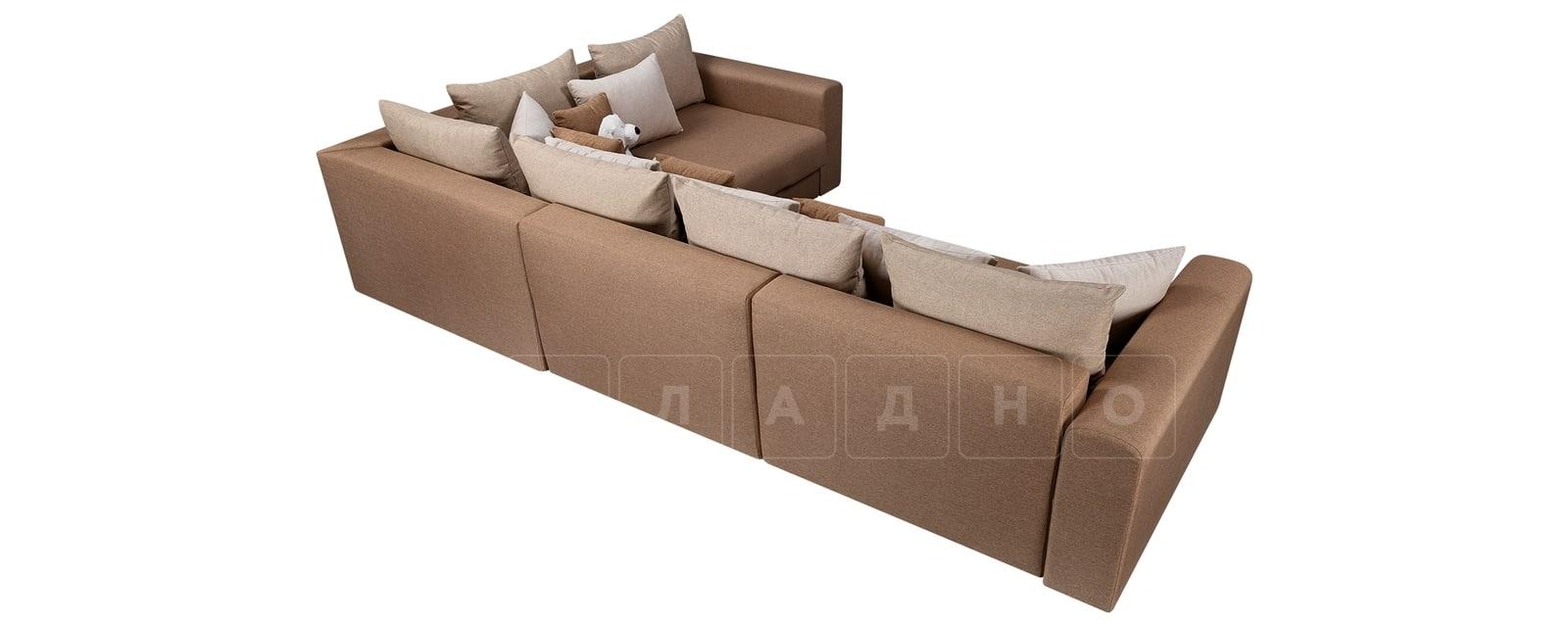 Угловой диван Медисон коричневый 345х224 см фото 3 | интернет-магазин Складно