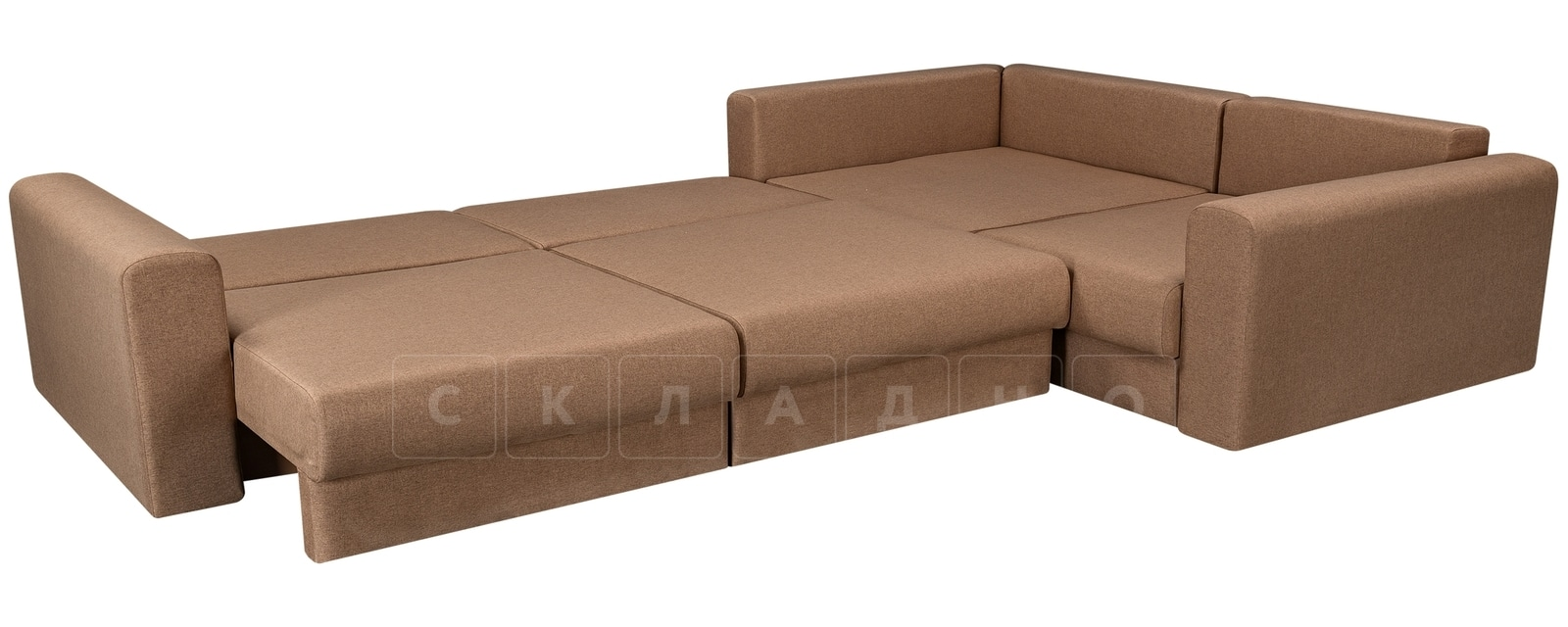 Угловой диван Медисон коричневый 345х224 см фото 4 | интернет-магазин Складно
