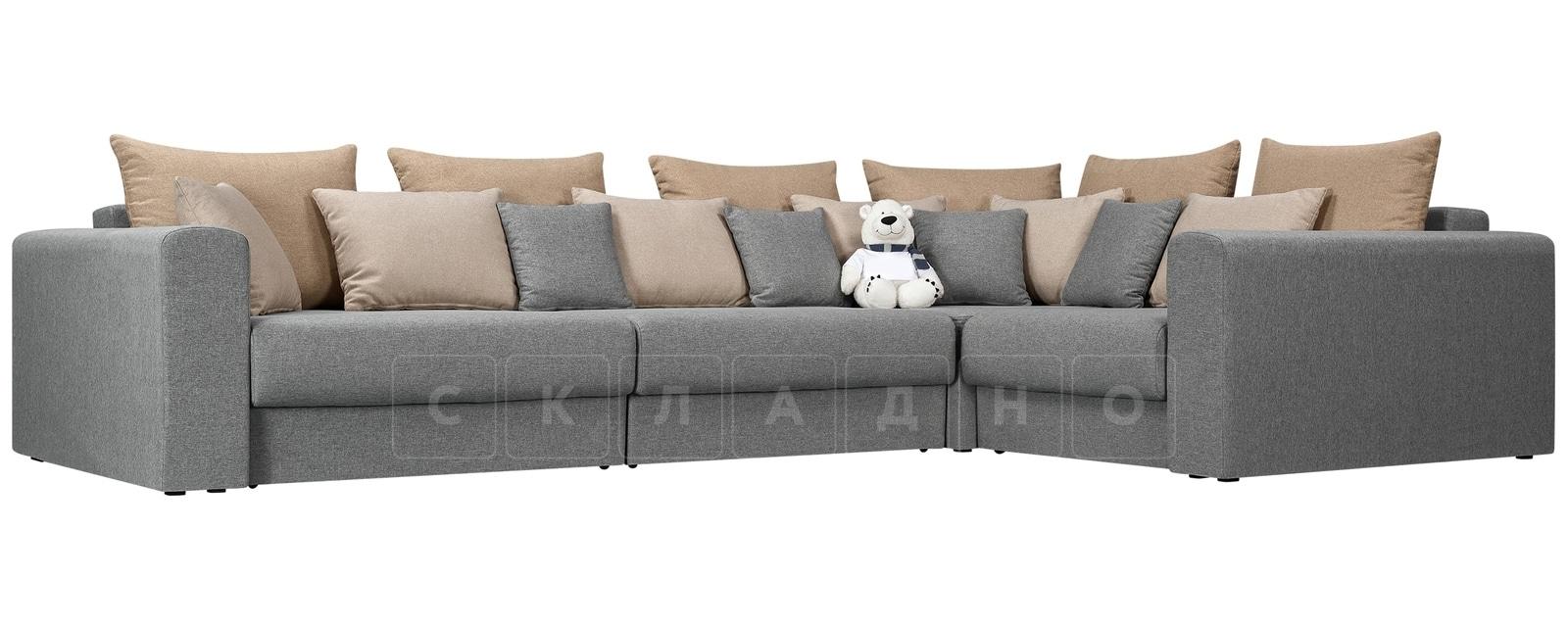 Угловой диван Медисон серый 345х224 см фото 1 | интернет-магазин Складно