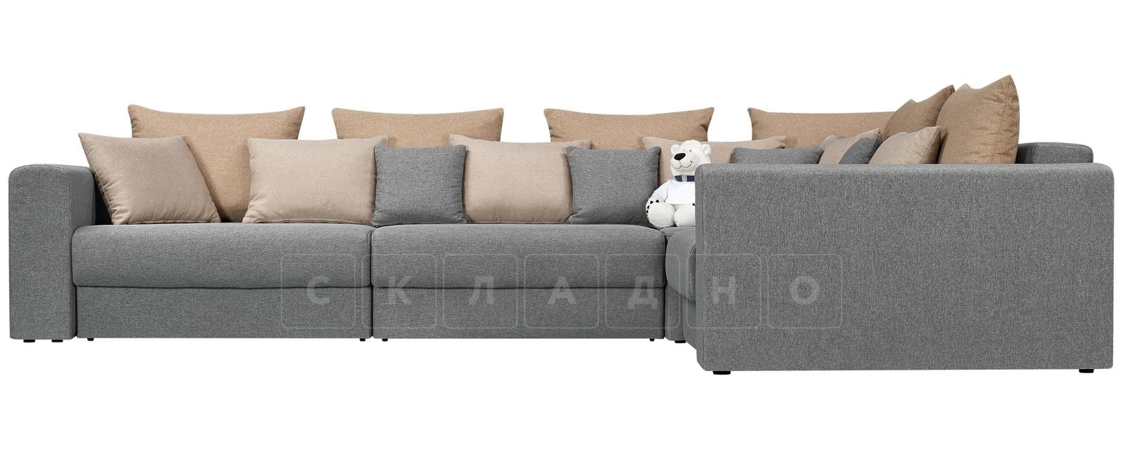 Угловой диван Медисон серый 345х224 см фото 2 | интернет-магазин Складно