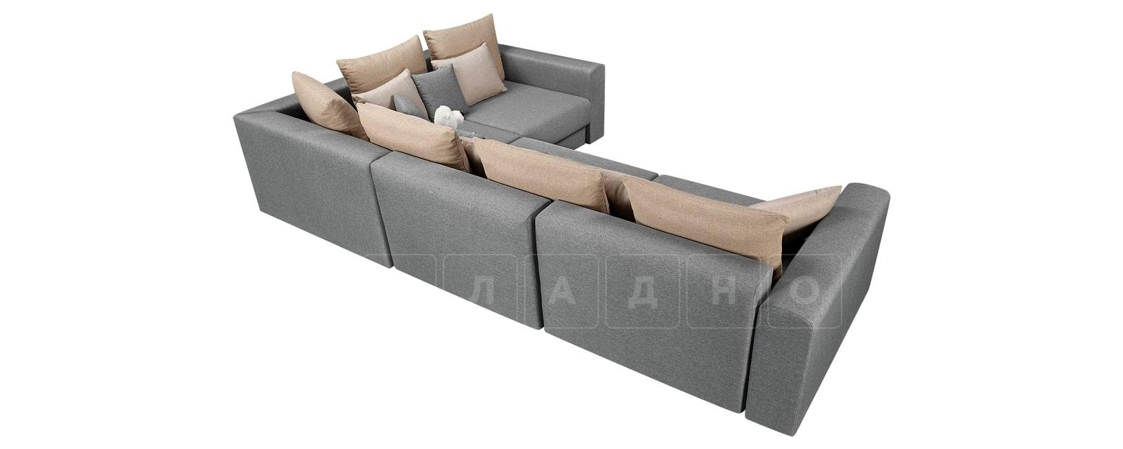 Угловой диван Медисон серый 345х224 см фото 3 | интернет-магазин Складно