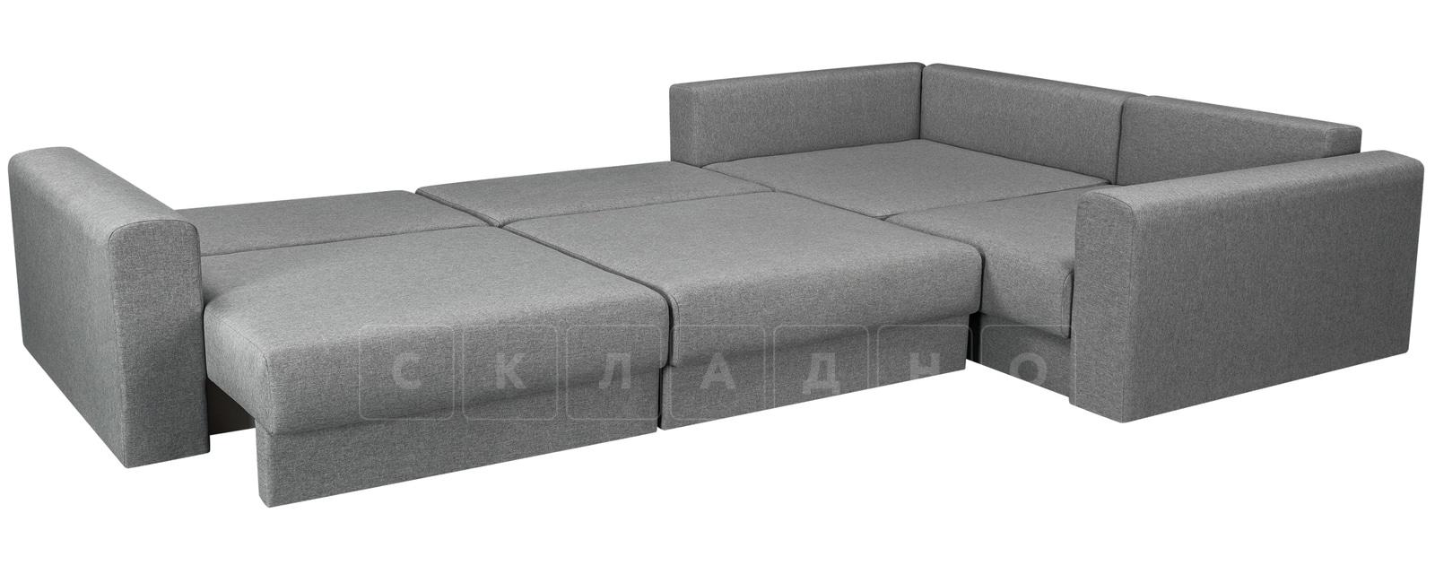 Угловой диван Медисон серый 345х224 см фото 4 | интернет-магазин Складно