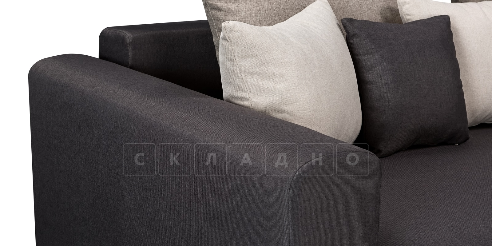 Угловой диван Медисон темно-серый 345х224см фото 5 | интернет-магазин Складно