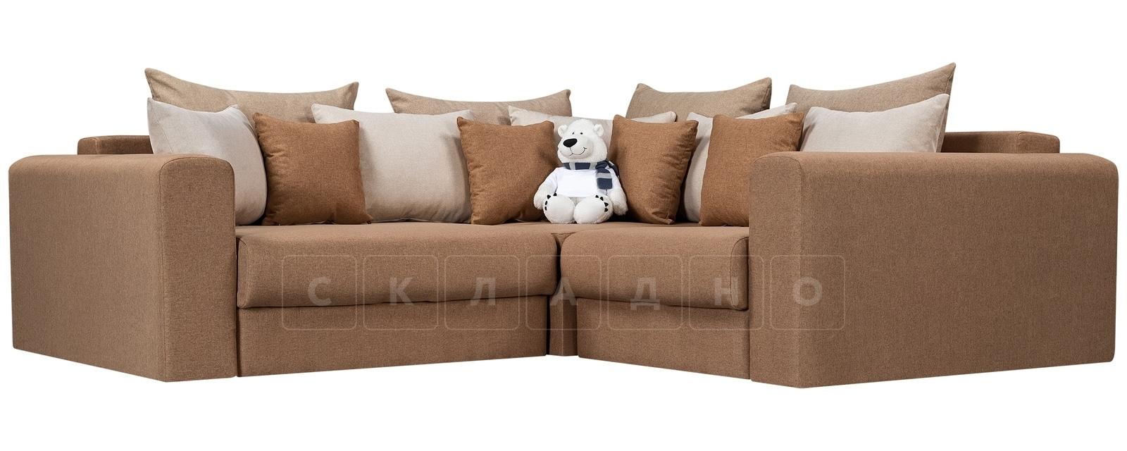 Угловой диван Медисон коричневый 244х224 см фото 1 | интернет-магазин Складно