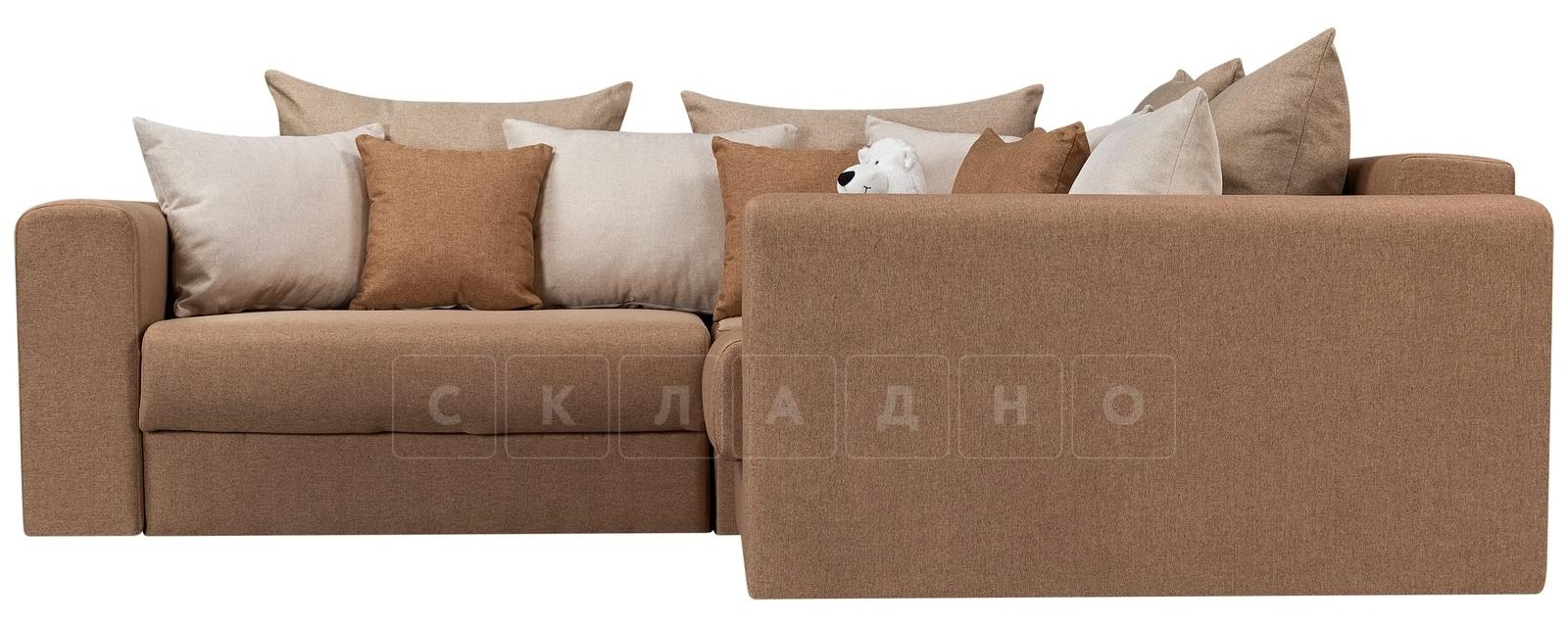 Угловой диван Медисон коричневый 244х224 см фото 2 | интернет-магазин Складно