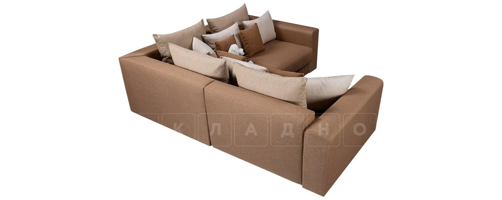 Угловой диван Медисон коричневый 244х224 см фото 3 | интернет-магазин Складно