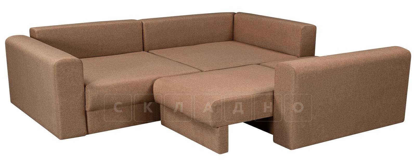 Угловой диван Медисон коричневый 244х224 см фото 4 | интернет-магазин Складно