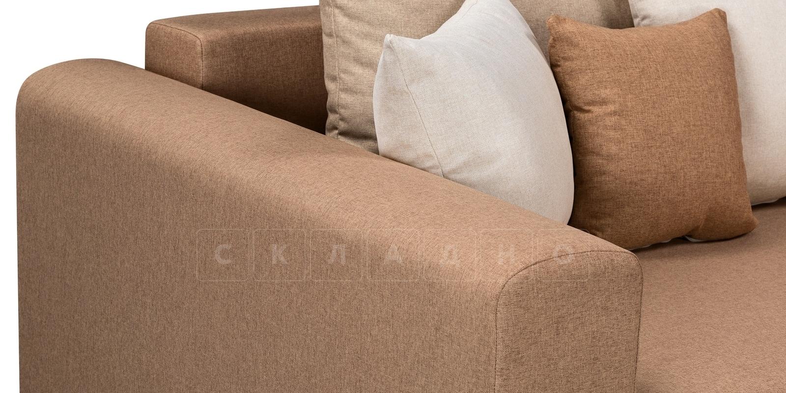 Угловой диван Медисон коричневый 345х224 см фото 5 | интернет-магазин Складно