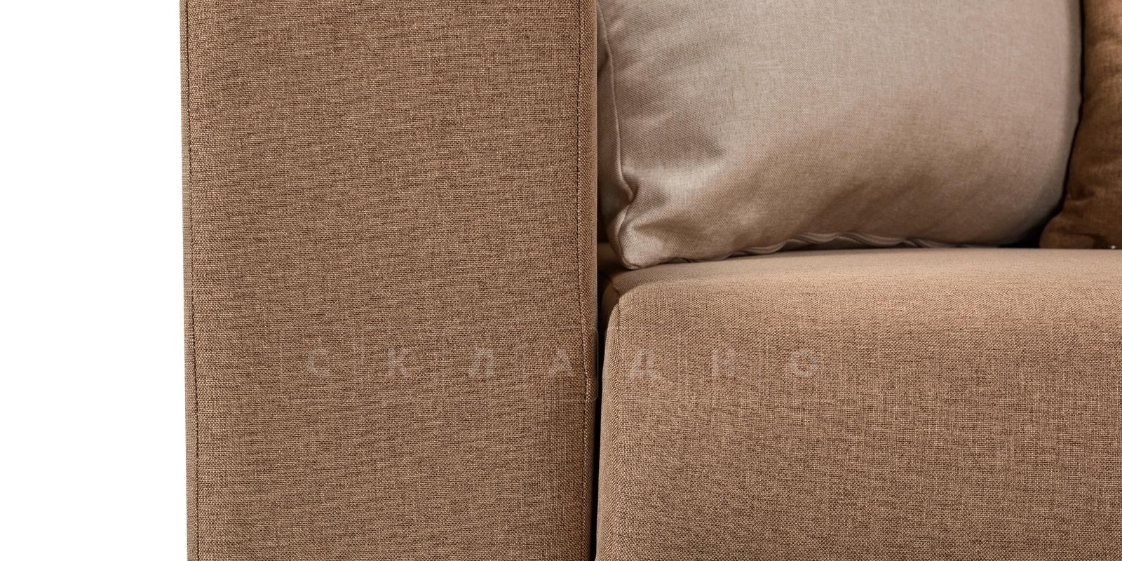 Угловой диван Медисон коричневый 345х224 см фото 6 | интернет-магазин Складно