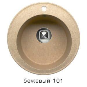 Кухонная мойка TOLERO R-108 кварцевая D51 круглая фото | интернет-магазин Складно