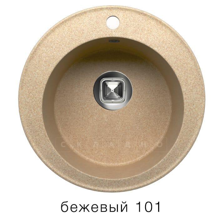 Кухонная мойка TOLERO R-108 кварцевая D51 круглая фото 1 | интернет-магазин Складно