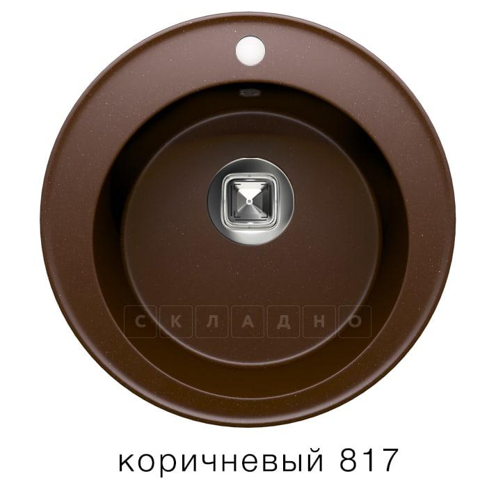 Кухонная мойка TOLERO R-108 кварцевая D51 круглая фото 5 | интернет-магазин Складно