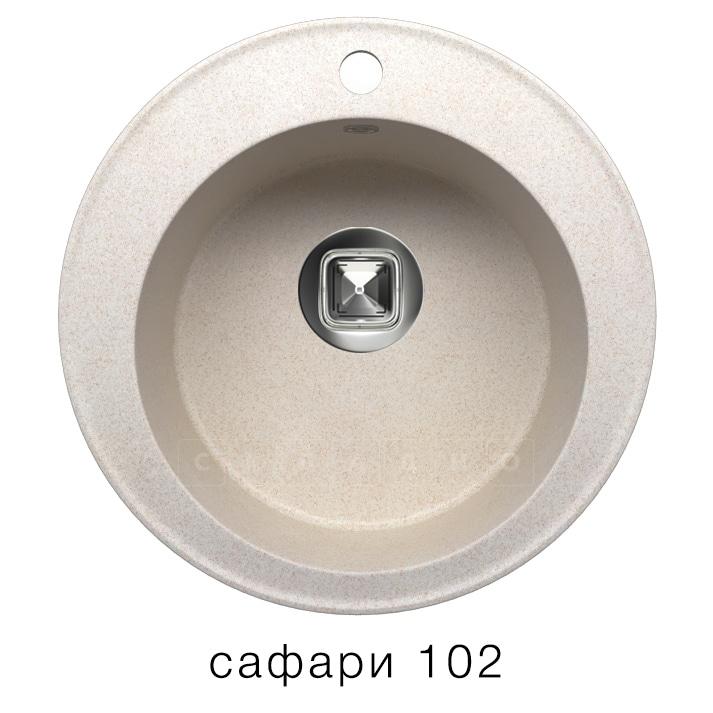 Кухонная мойка TOLERO R-108 кварцевая D51 круглая фото 3 | интернет-магазин Складно