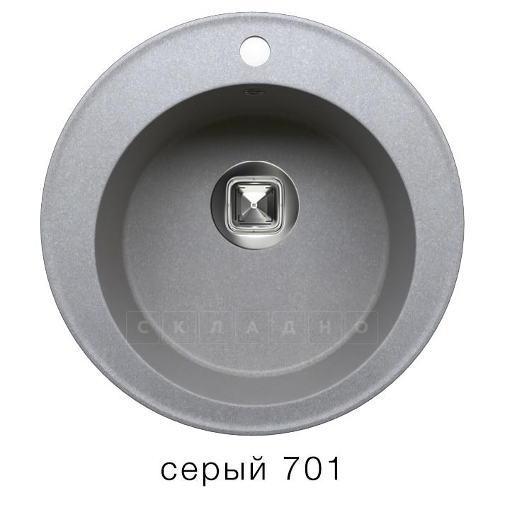 Кухонная мойка TOLERO R-108 кварцевая D51 круглая фото 4 | интернет-магазин Складно