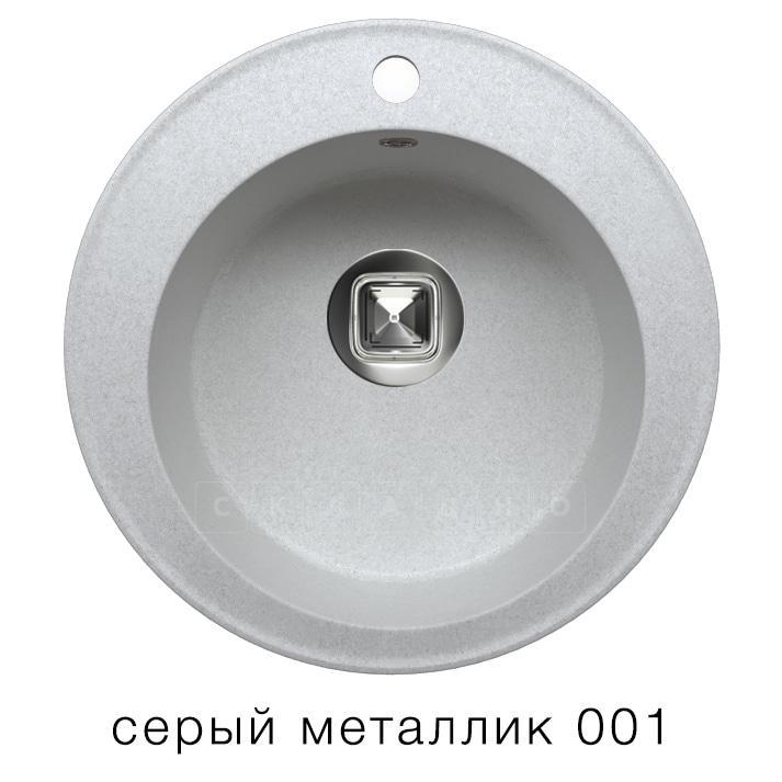 Кухонная мойка TOLERO R-108 кварцевая D51 круглая фото 2 | интернет-магазин Складно