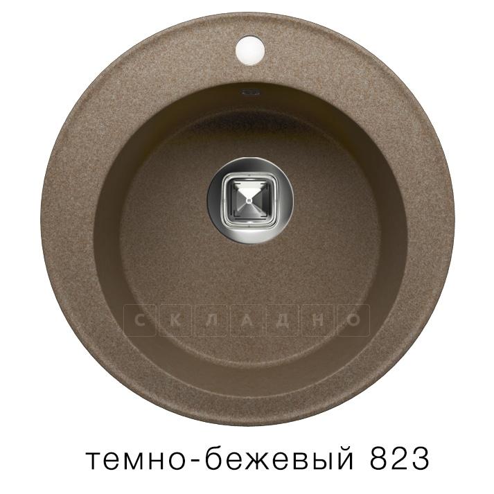 Кухонная мойка TOLERO R-108 кварцевая D51 круглая фото 6 | интернет-магазин Складно