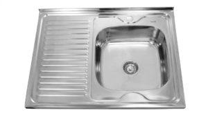 Кухонная мойка накладная металлическая 80см S0,8х180 фото | интернет-магазин Складно