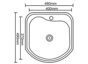 Кухонная мойка врезная металлическая 49х49см 2150 рублей, фото 2 | интернет-магазин Складно