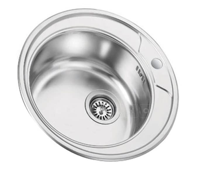 Кухонная мойка врезная металлическая D49 см круглая S0,8х180 фото 1 | интернет-магазин Складно