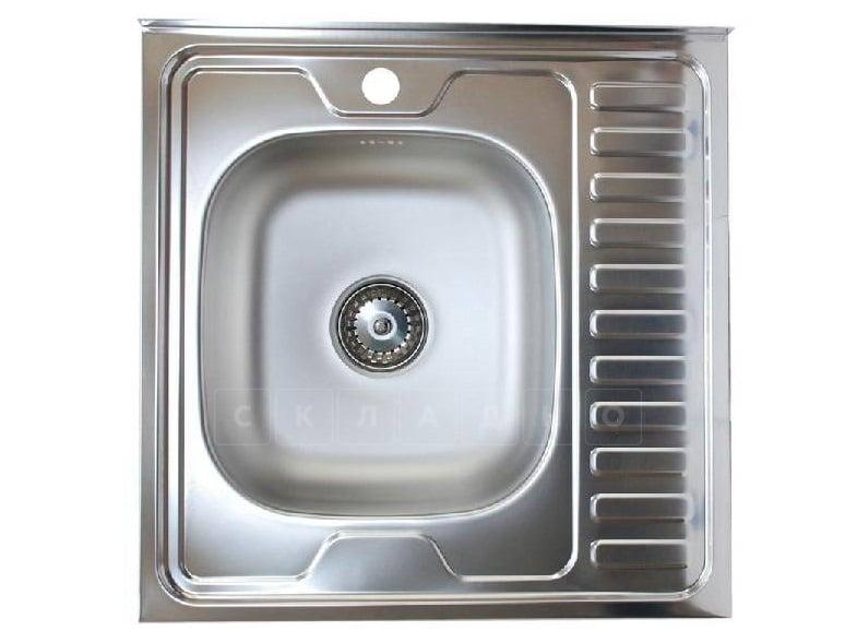 Кухонная мойка накладная металлическая 60см S0,8х180 фото 3 | интернет-магазин Складно