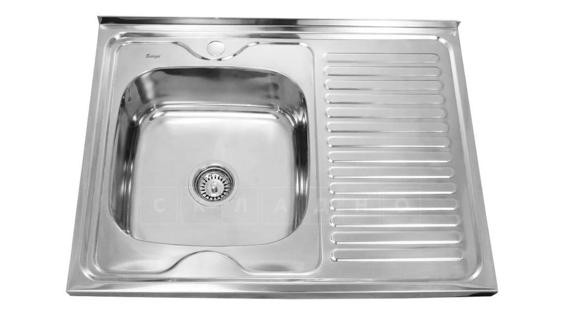 Кухонная мойка накладная металлическая 80см S0,8х180 фото 2 | интернет-магазин Складно