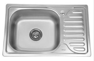 Кухонная мойка врезная металлическая 63х50см фото | интернет-магазин Складно