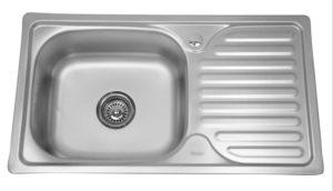 Кухонная мойка врезная металлическая 76х42см фото | интернет-магазин Складно