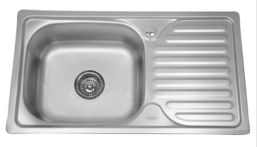 Кухонная мойка врезная металлическая 76х42 см фото 1 | интернет-магазин Складно