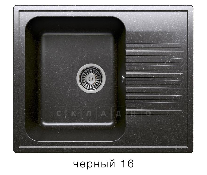 Кухонная мойка POLYGRAN F-07 из искусственного камня 61х50 см с одной чашей фото 6 | интернет-магазин Складно