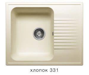 Кухонная мойка POLYGRAN F-07 из искусственного камня 61х50 см с одной чашей 5400 рублей, фото 2 | интернет-магазин Складно