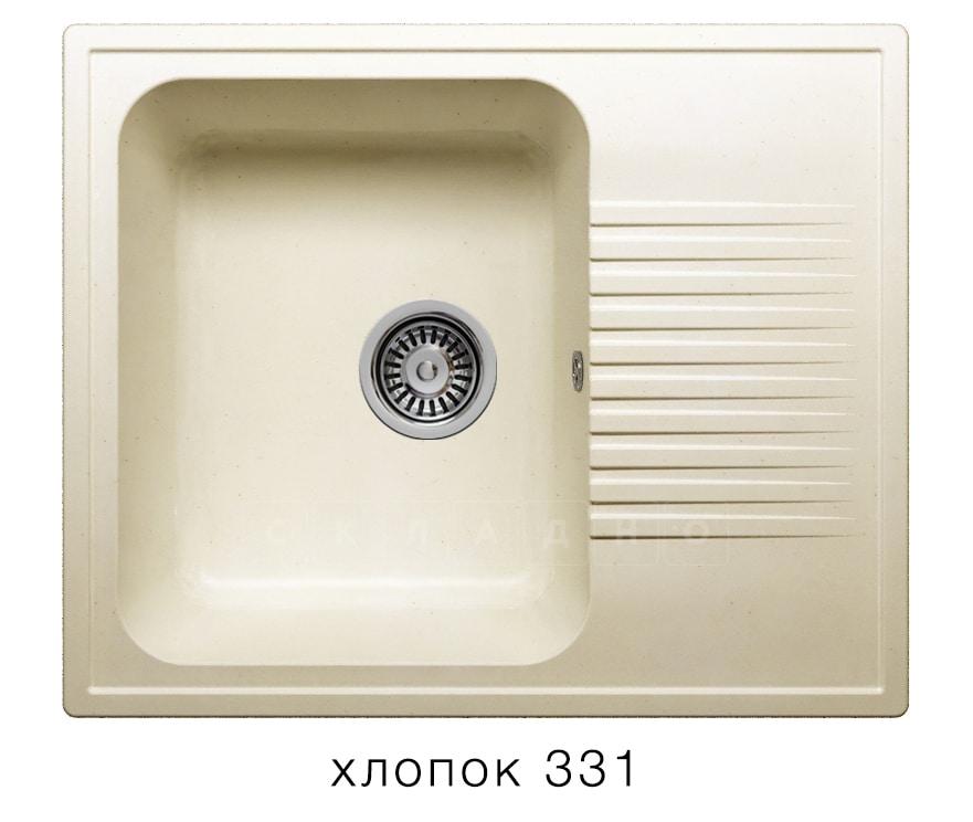 Кухонная мойка POLYGRAN F-07 из искусственного камня 61х50 см с одной чашей фото 2 | интернет-магазин Складно