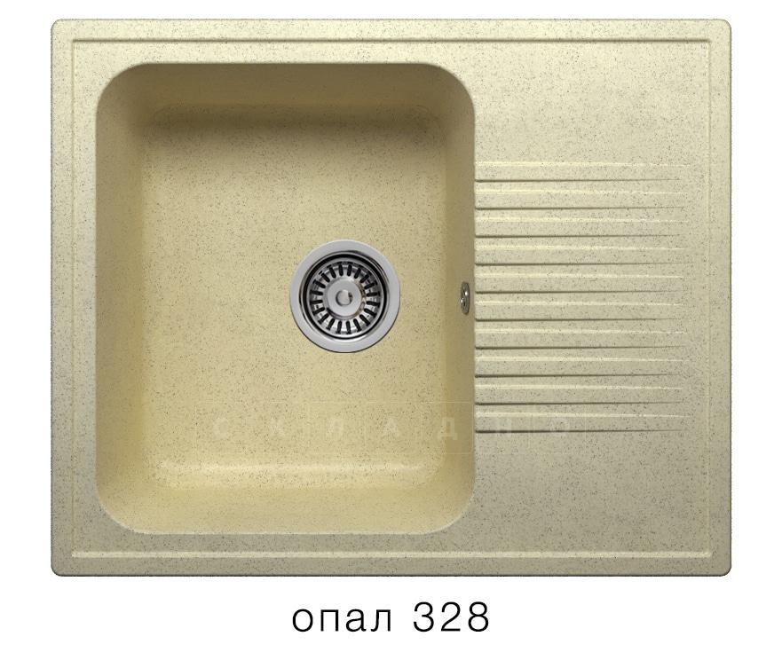 Кухонная мойка POLYGRAN F-07 из искусственного камня 61х50 см с одной чашей фото 3 | интернет-магазин Складно