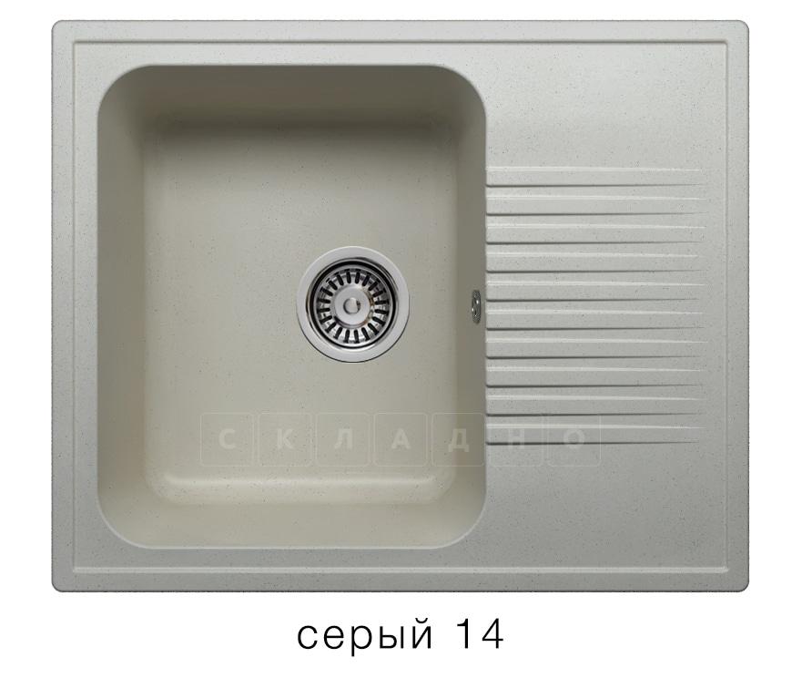Кухонная мойка POLYGRAN F-07 из искусственного камня 61х50 см с одной чашей фото 7 | интернет-магазин Складно