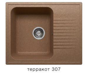 Кухонная мойка POLYGRAN F-07 из искусственного камня 61х50 см с одной чашей 5400 рублей, фото 8 | интернет-магазин Складно