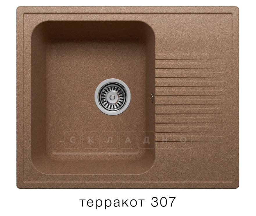 Кухонная мойка POLYGRAN F-07 из искусственного камня 61х50 см с одной чашей фото 8 | интернет-магазин Складно