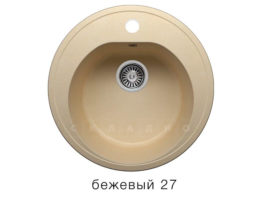 Кухонная мойка POLYGRAN F-08 из искусственного камня D51см фото 4 | интернет-магазин Складно