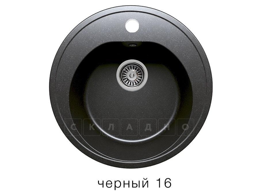 Кухонная мойка POLYGRAN F-08 из искусственного камня D51см фото 6 | интернет-магазин Складно