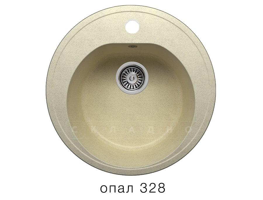 Кухонная мойка POLYGRAN F-08 из искусственного камня D51см фото 3 | интернет-магазин Складно