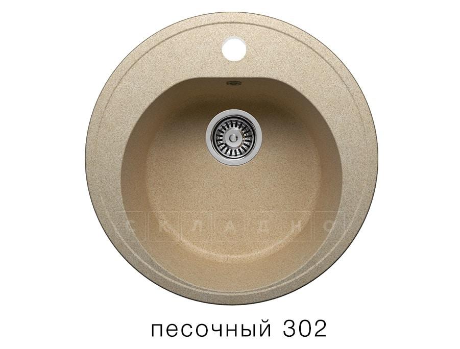 Кухонная мойка POLYGRAN F-08 из искусственного камня D51см фото 1 | интернет-магазин Складно