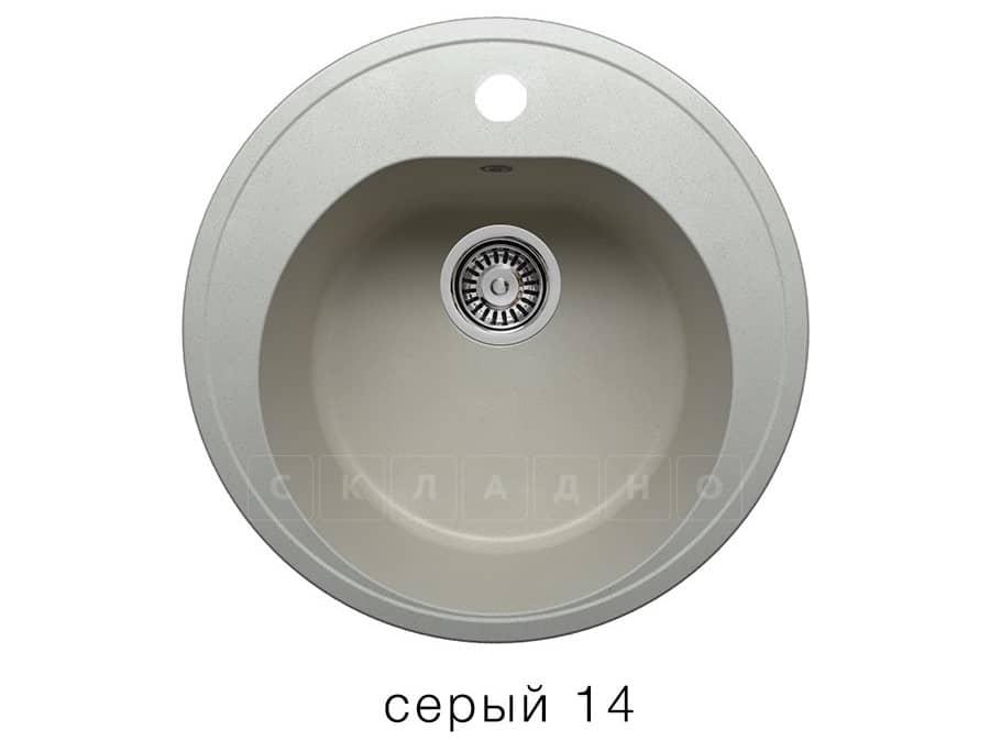 Кухонная мойка POLYGRAN F-08 из искусственного камня D51см фото 7 | интернет-магазин Складно