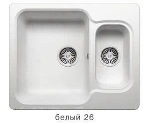 Кухонная мойка POLYGRAN F-09 из искусственного камня 61х50 см с двумя чашами 6200 рублей, фото 5 | интернет-магазин Складно